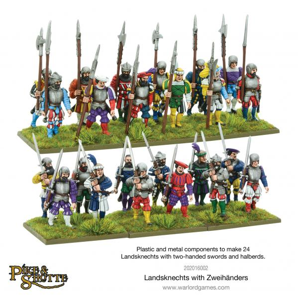 28mm Pike & Shotte: Landsknecht with Zweihandlers Box Set