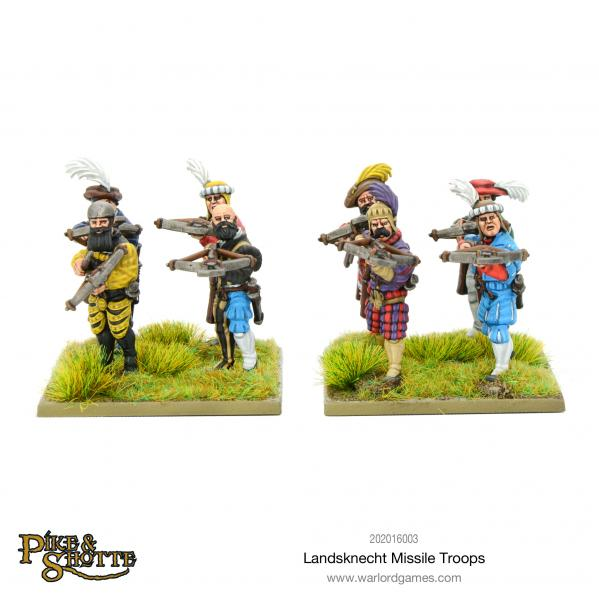 28mm Pike & Shotte: Landsknecht Missile Troops Box Set