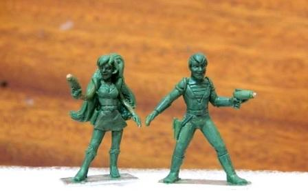 28mm Sci Fi: Dex and Kim - Galactic Aces