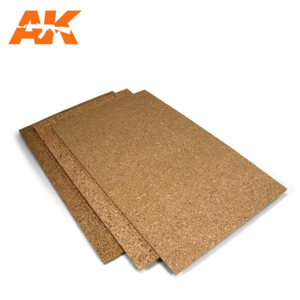 AK-Interactive: (Texture) Cork Sheet – FINE grained 200x300x3mm