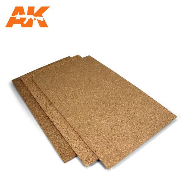 AK-Interactive: (Texture) Cork Sheet – FINE grained 200x290x6mm