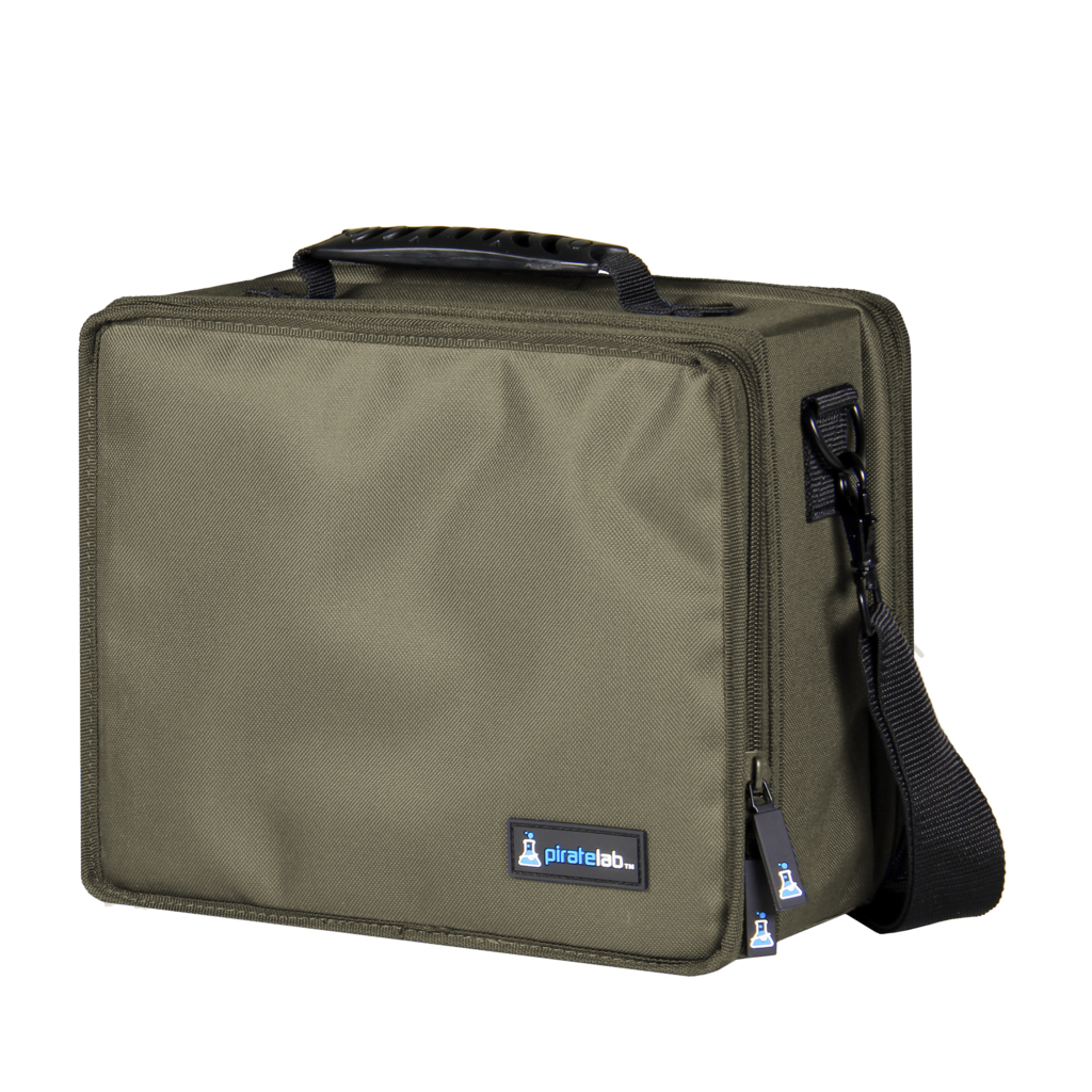 Pirate Labs: Olive Drab Small Case (Armor Tray, Small 2-Row, Black + 6 Dividers)