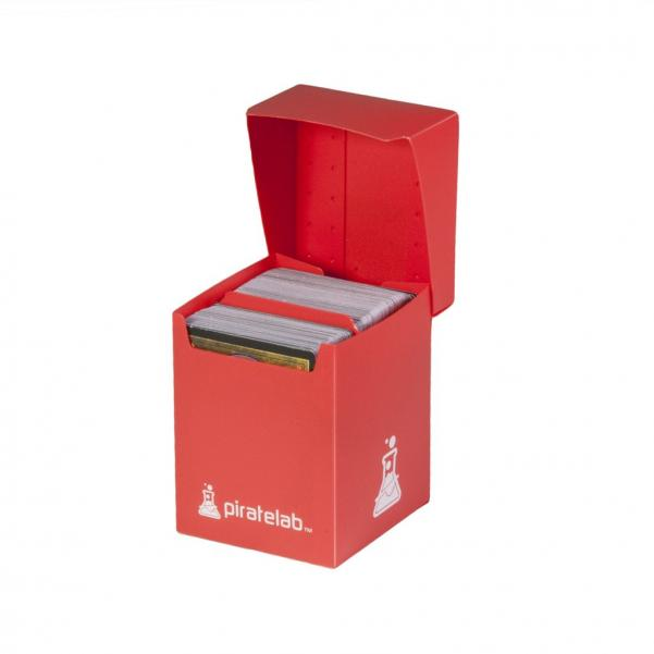 Pirate Labs: 120 Card Basic Deck Box - Red