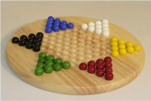 Wood Round Chinese Checkers