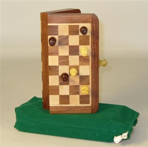 7'' Folding wood Magnetic Chess