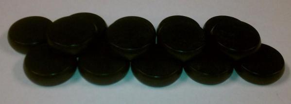 Black Wooden Crokinole Discs (14)