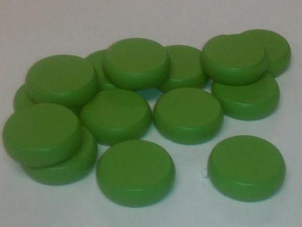 Green Wooden Crokinole Discs (14)