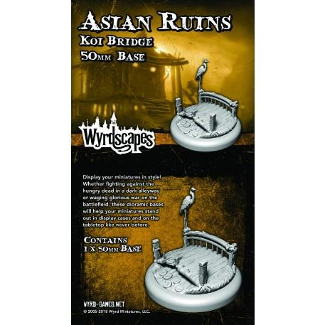 Wyrdscapes: Asian Ruins 50MM II Base (Koi Bridge)