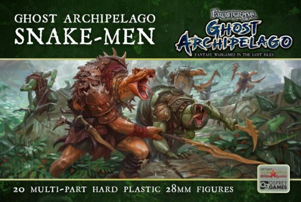 Frostgrave: Ghost Archipelago Snake-men (20) (plastic box set)