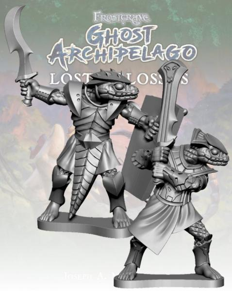 Frostgrave: Ghost Archipelago Snake-man Freebooter & Mercenary