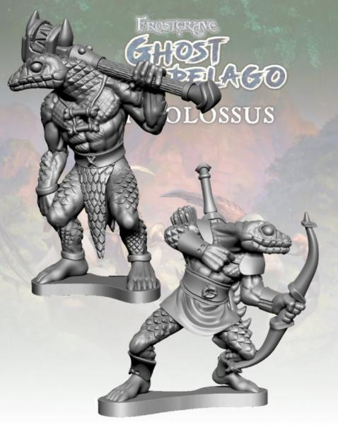 Frostgrave: Ghost Archipelago Snake-man Savage & Hunter