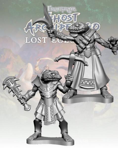 Frostgrave: Ghost Archipelago Snake-man Crackshot & Herbalist
