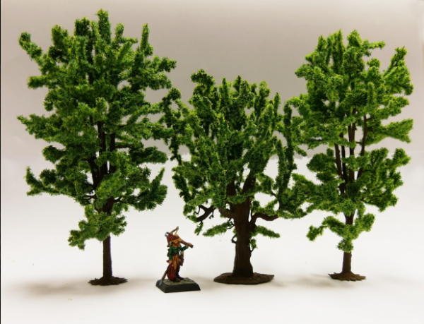 Terrain Accessories: Fable forest Model Deciduous Trees mix Horse Chestnut, Oak, Linden (3)