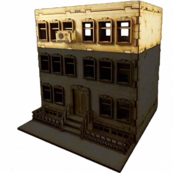 28mm Terrain: City Scenics - Apartment A Extension