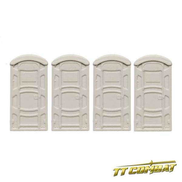 28mm Terrain: City Accessories - Portable Toilets Set (resin)