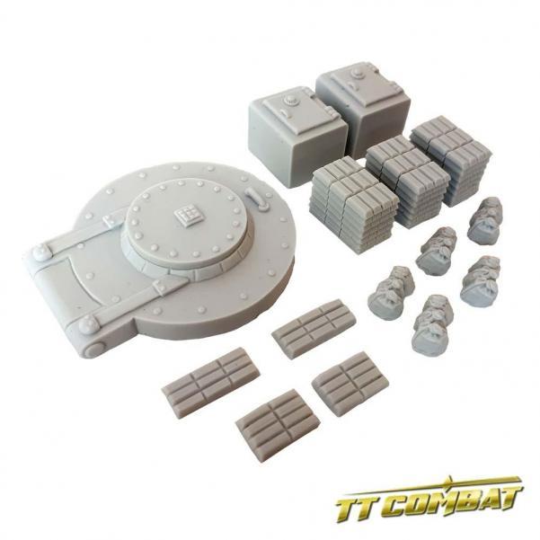 28mm Terrain: City Accessories - Bank Accessories (resin)