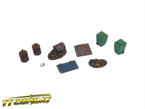 28mm Terrain: City Accessories - Backalley Accessories 4 (resin)