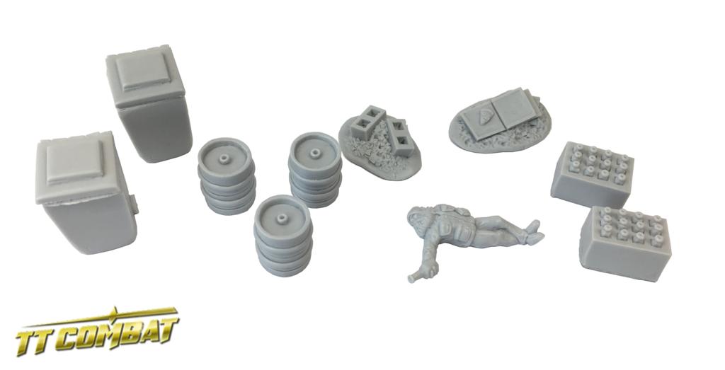 28mm Terrain: City Accessories - Backalley Accessories 5 (resin)
