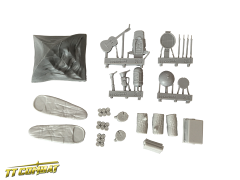28mm Terrain: City Accessories - Camping Accessories (resin)
