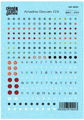 Infinity Acessories: Infinity Decals - Ariadna 03