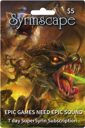 Syrinscape: Music for your RPG (7 day subscription)