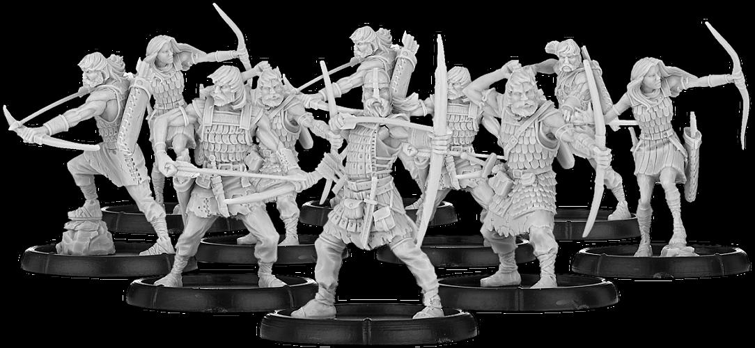 Darklands: Bowmen of Scīrbrōc, Ceorl Bowman Unit (10x Warriors w cmd) (metal)