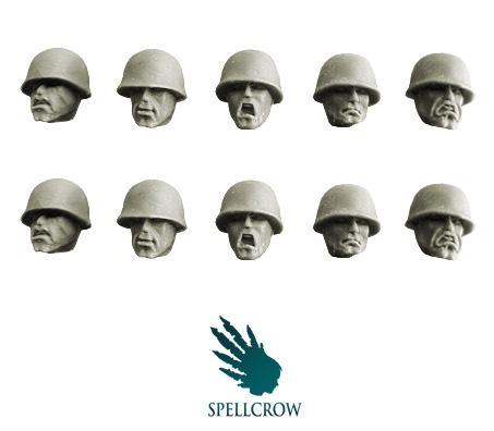 28mm Modern: Guards Heads in M1 Helmets