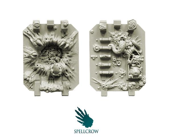28mm Sci Fi - Plague Legions:  Plague Doors for Heavy Vehicles
