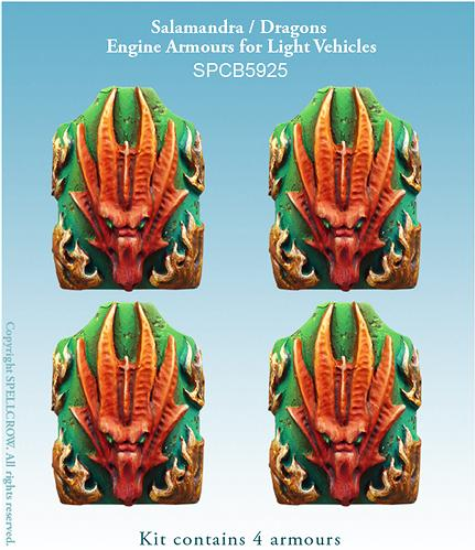 28mm Sci-Fi: (Salamanders/Dragons) Salamandra / Dragons Engine Armours for Light Vehicles