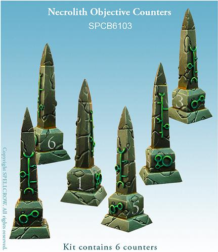 28mm Sci-Fi: Necrolith Objective Counters