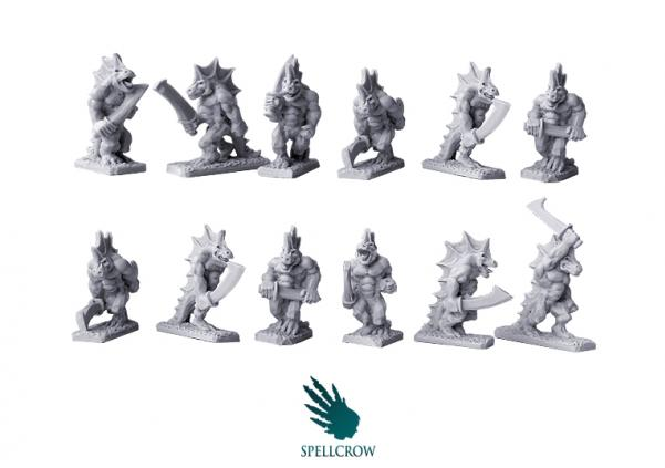 10mm scale Reptilians Warriors Pack