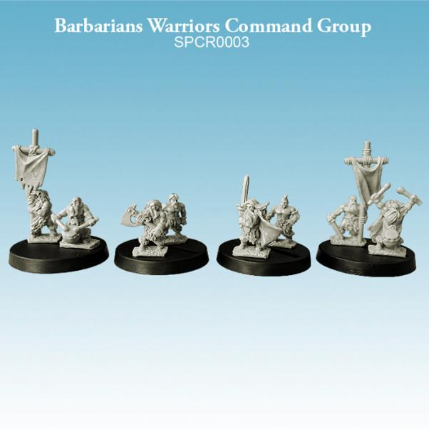 Argatoria 10mm scale Barbarians - Warriors Command Group