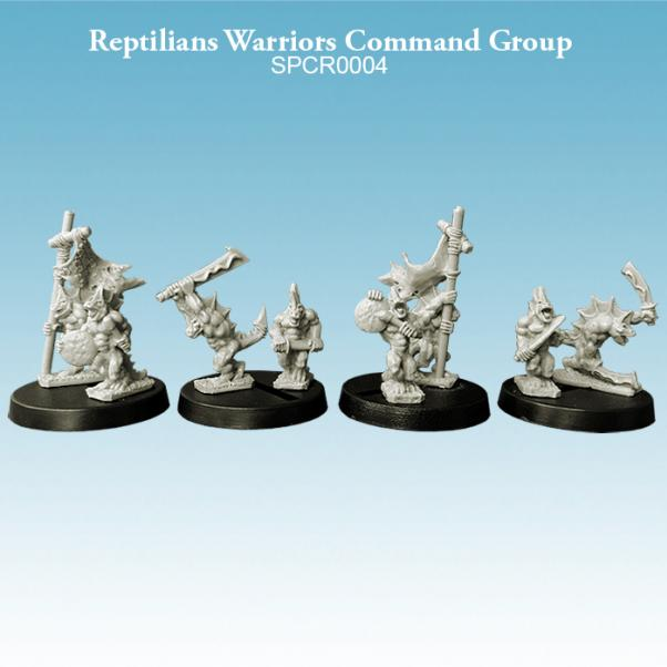 10mm scale Reptillians - Warriors Command Group