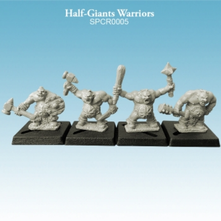 10mm scale Half-Giants - Warriors Pack