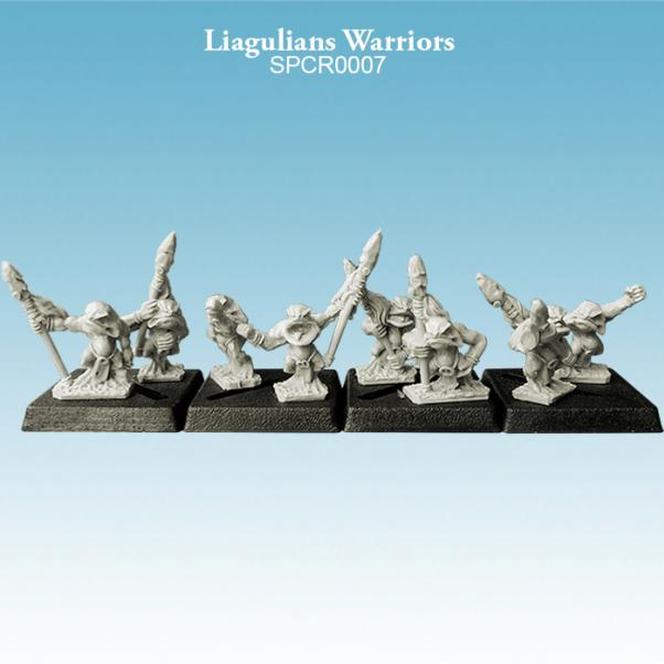 10mm scale Liagulians - Warriors Pack