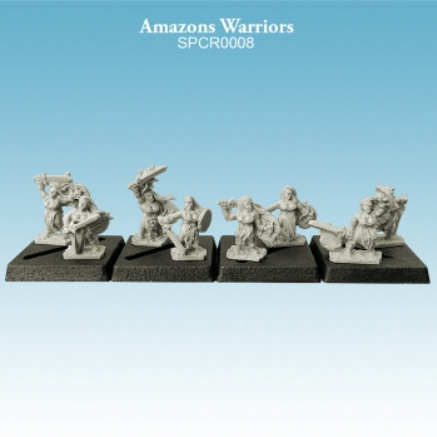 10mm scale Amazons - Warriors Pack