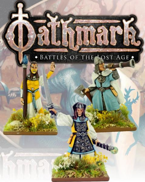 28mm Fantasy: (Oathmark) Elf King, Wizard and Musician