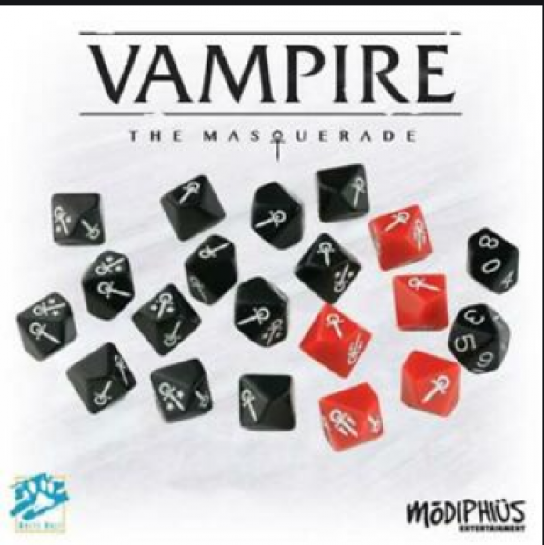 Vampire: The Masquerade Custom d10 Dice Set (20)