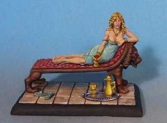 George R.R. Martin Masterworks: Cersei Lannister on Lion Fainting Couch