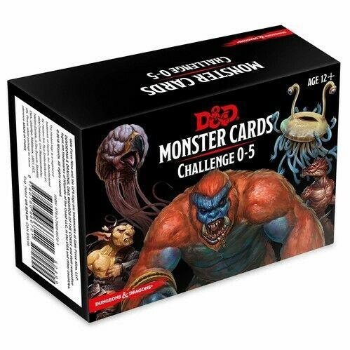 D&D: Monster Cards Challenge 0-5 (179 Cards)