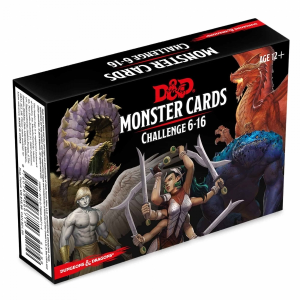 D&D 5th Edition RPG: Monster Cards - Challenge 6-16 Deck