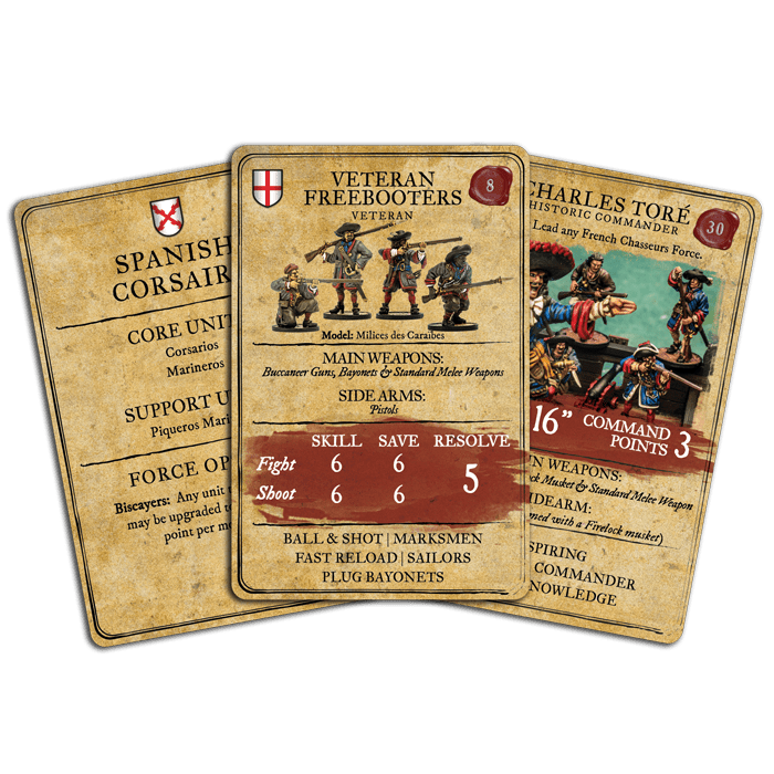 Blood & Plunder: Unit & Character Card Set