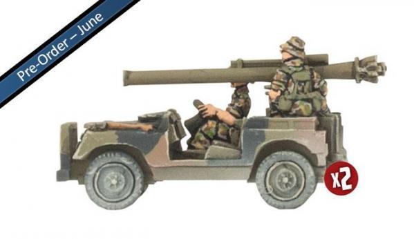Flames of War: Team Yankee (Australian) - Anti-tank Land Rover Section