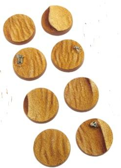 Battle Bases: (Star Wars Legion) Desert Round 27mm set (5)