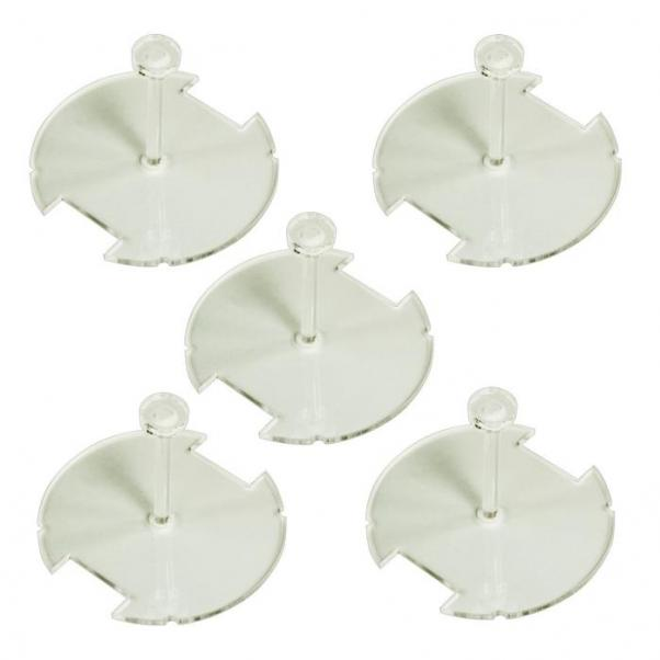 50mm Circular Flight Stand Kit with 1.25 peg Compatible with SW: Legion, 1.5mm Clear (5)