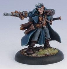 Warmachine: (Cygnar) Gun Mage Captain Adept