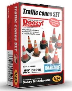 Miniature Terrain: 1/24 scale Traffic Cones Set