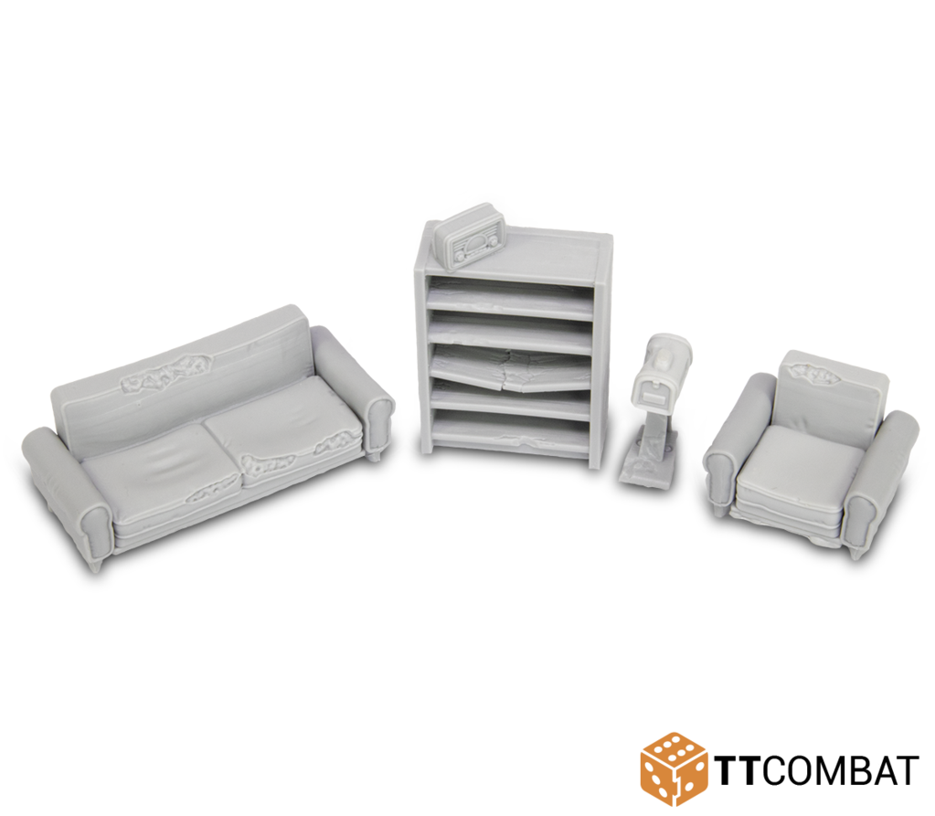 28mm Terrain: City Accessories - Lounge Accessories (5) (resin)