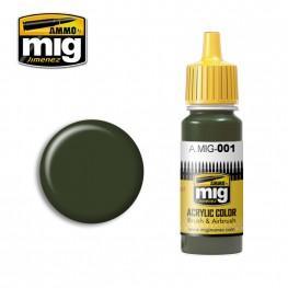 AMMO: Acrylic Paint - RAL 6003 Olivgrun Opt1 (17ml)