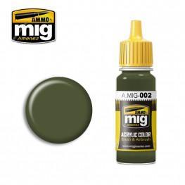 AMMO: Acrylic Paint - RAL 6003 Olivgrun Opt2 (17ml)